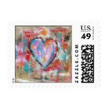 Reckless Heart Small Postage Stamps From Artwork