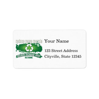 Reclaim, Recharge and Recycle Custom Address Labels