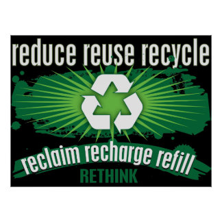 Reclaim, Recharge and Recycle Posters