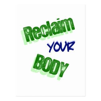 Reclaim Your Body Postcard