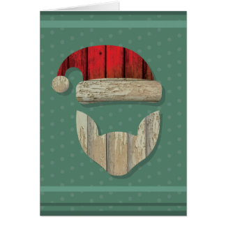 Reclaimed Barnwood Santa Greeting Card