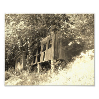 """""""Reclaimed Lands"""" Sepia Photo Print"""