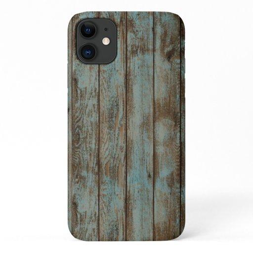 Reclaimed wood lumber wall floor cool recycle grai iPhone 11 case