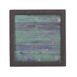 Reclaimed Wood Planks Premium Trinket Boxes