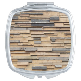 Reclaimed Wood, Sustainable Material Compact Mirror