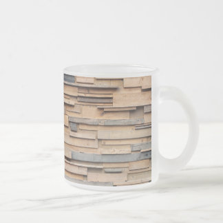 Reclaimed Wood, Sustainable Material Frosted Glass Coffee Mug