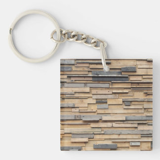 Reclaimed Wood, Sustainable Material Keychain