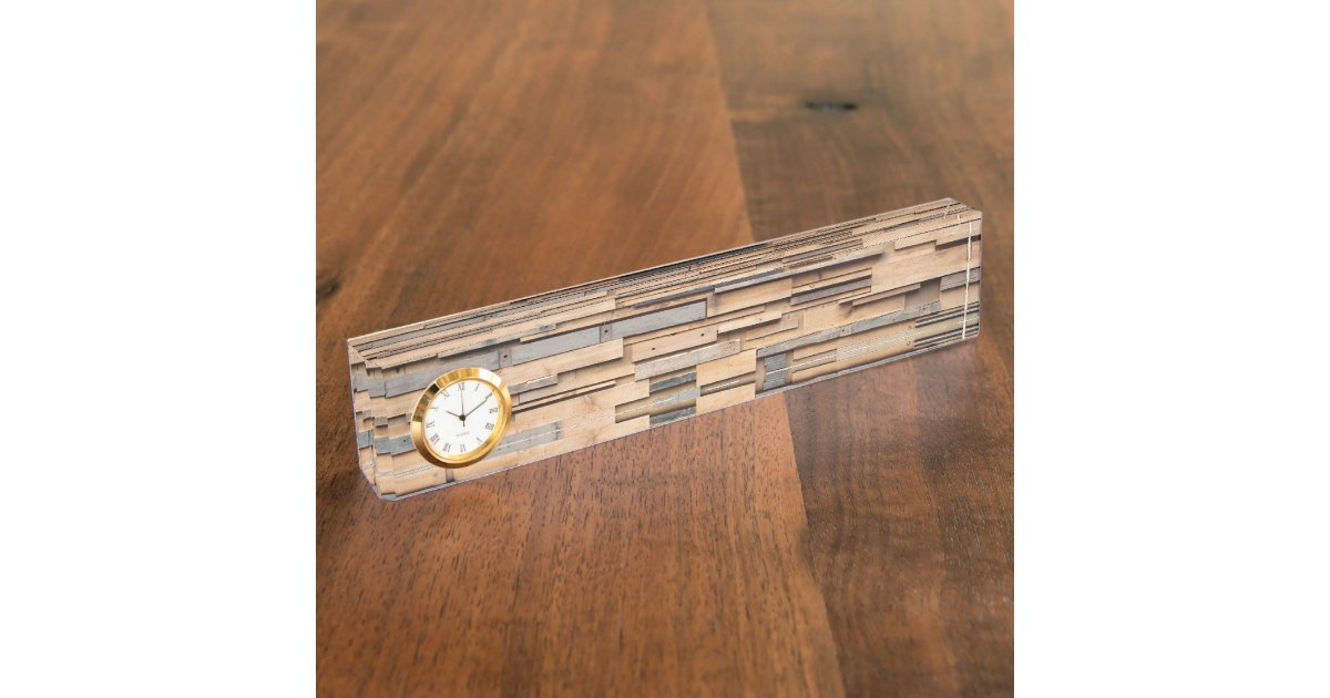 Reclaimed wood sustainable material name plate zazzle for Why is wood sustainable