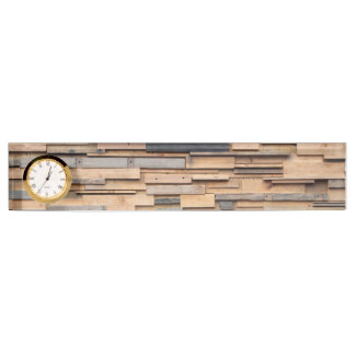 Reclaimed Wood, Sustainable Material Name Plate