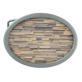 Reclaimed Wood, Sustainable Material Oval Belt Buckle