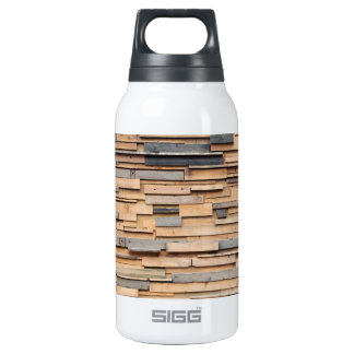 Reclaimed Wood, Sustainable Material 10 Oz Insulated SIGG Thermos Water Bottle