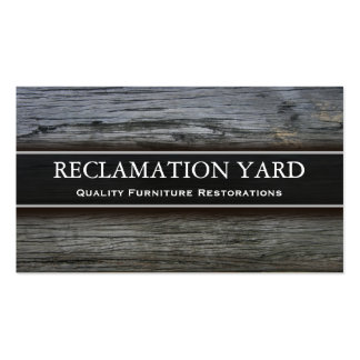 Reclamation Salvage Yard Business Card