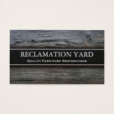 Reclamation / Salvage Yard Business Card at Zazzle