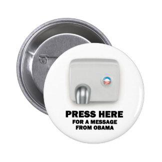 RECLAME AQUÍ un mensaje de Obama Pins