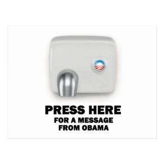 RECLAME AQUÍ un mensaje de Obama Tarjeta Postal