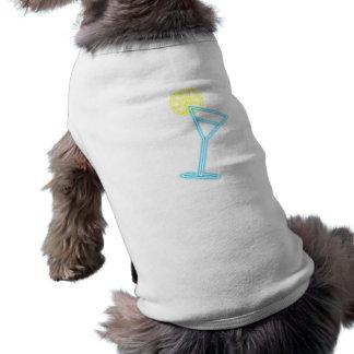 Reclamo de neón cóctel neon sign playera sin mangas para perro