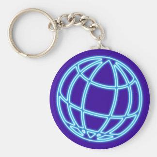 Reclamo de neón neon sign globo globe llavero redondo tipo pin