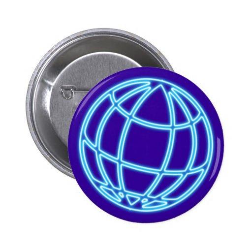 Reclamo de neón neon sign globo globe pin redondo 5 cm