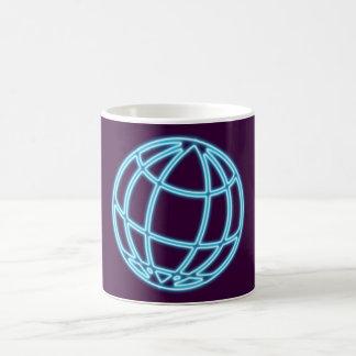 Reclamo de neón neon sign globo globe taza