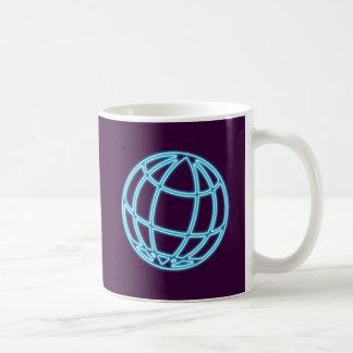 Reclamo de neón neon sign globo globe taza de café