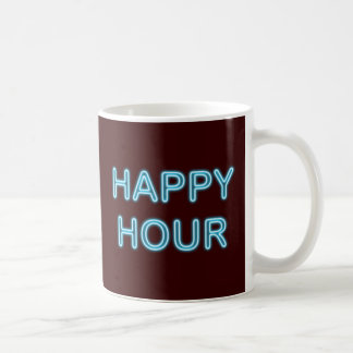 Reclamo de neón neon sign Happy Hour Taza