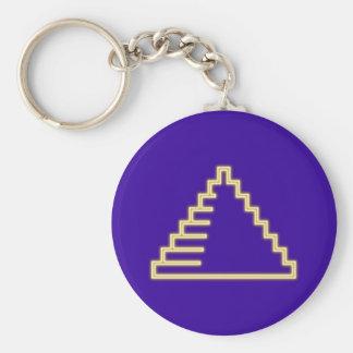 Reclamo de neón neon sign pirámide pyramid llavero redondo tipo pin