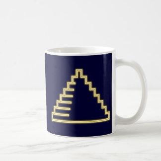 Reclamo de neón neon sign pirámide pyramid taza