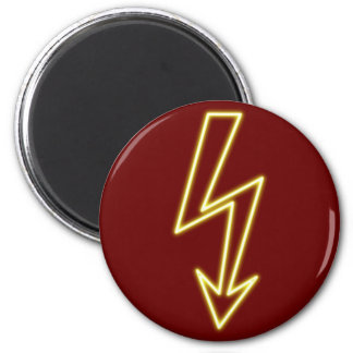 Reclamo de neón neon sign rayo flasheas imán redondo 5 cm