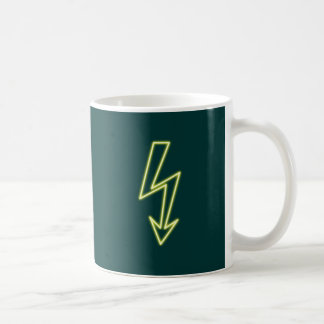 Reclamo de neón neon sign rayo flasheas tazas de café