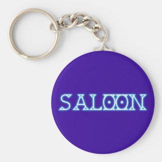 Reclamo de neón neon sign saloon llavero redondo tipo pin
