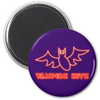 Reclamo de neón neon sign vampiros Hive Imán Redondo 5 Cm