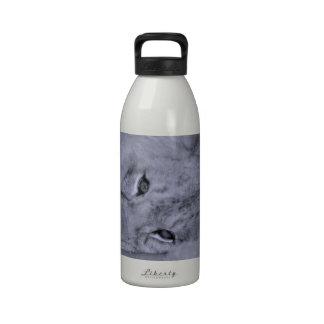 Reclinación adorable del cachorro de león botellas de beber