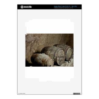 Reclinación de los barriles iPad 3 skins