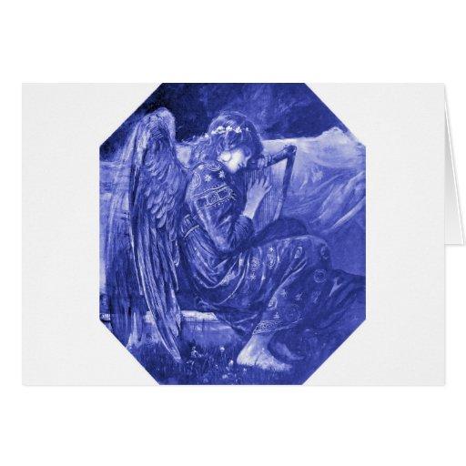 Reclinación del ángel felicitaciones