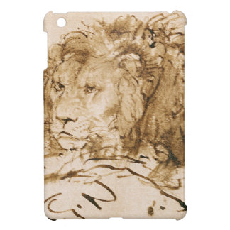 Reclinación del león (pluma y tinta en el papel)
