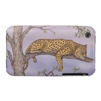 Reclinación del leopardo funda para iPhone 3