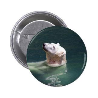Reclinación del oso polar pin redondo de 2 pulgadas