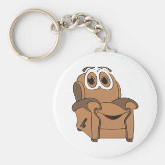 Recliner Cartoon Basic Round Button Keychain