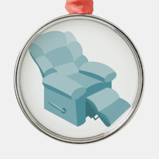 Recliner Round Metal Christmas Ornament