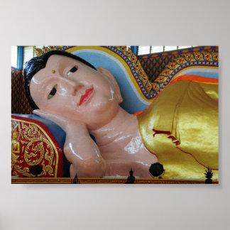 Recling Buddha,Malaysia Poster
