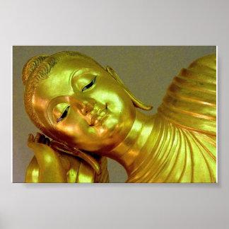 Recling Buddha Poster