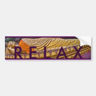 Recling Buddha RELAX Bumper Sticker