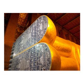 Reclining Budda, Wat Pho, Bangkok. Postcard