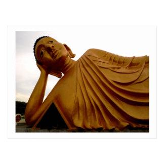 Reclining Buddha ~ Buddhist Postcard