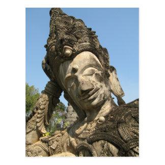 Reclining Buddha ... Nong Khai, Isan, Thailand Postcard