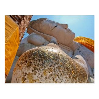 reclining buddha postcard