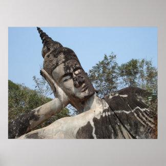 """Reclining Buddha"" Poster"