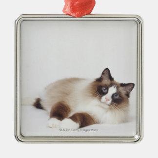 Reclining Cat Metal Ornament
