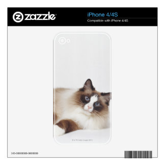 Reclining Cat Decal For iPhone 4