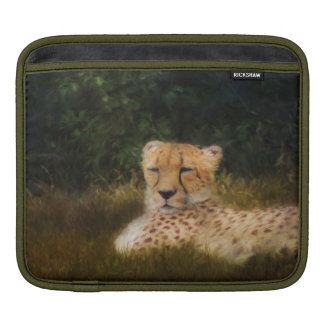 Reclining Cheetah at Fossil Rim Wildlife Center Sleeve For iPads
